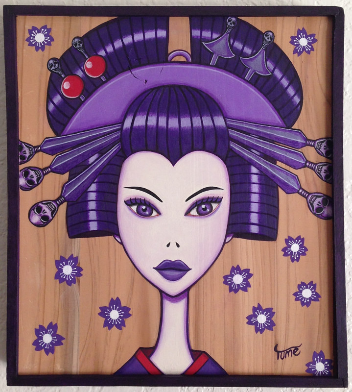Acrylic painting Rebel by Yumi Knight