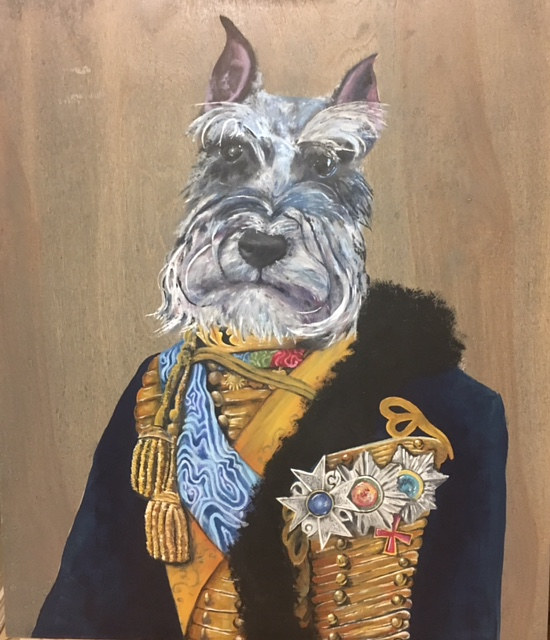 Acrylic painting Max the King! by Stuart  Sampson