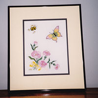 Bee and Butterfly by Mary Lee Chisholm-morgan