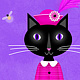 F is for Fetching Feline and Flowers by Valerie Lesiak