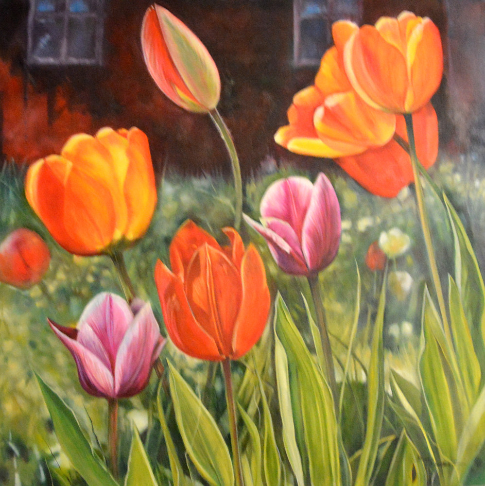 Oil painting Growing Wild by Bev Robertson