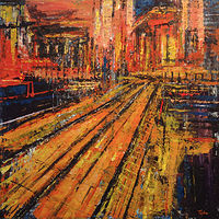 Acrylic painting Terminus No. 5  by David Tycho