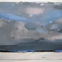 Acrylic painting Far Blue by Harry Stooshinoff