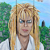 Acrylic painting Goblin King by Amber N Petersen