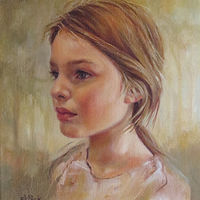 Oil painting Katelynn at Nine by Susan Peck O'Brien