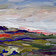 sold 'Ever There' oil on linen, 12 x 48 inches by Lully Schwartz