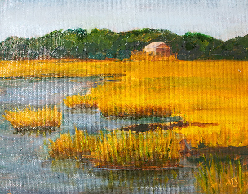 Oil painting Oyster, VA by Michele Barnes