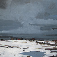 Acrylic painting January Thaw by Harry Stooshinoff