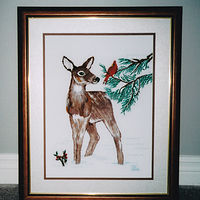Deer in Snow by Mary Lee Chisholm-morgan
