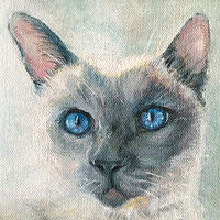 Acrylic painting Lila by Sally Adams