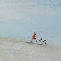 Acrylic painting A Girl's Best Friend by Sally Adams