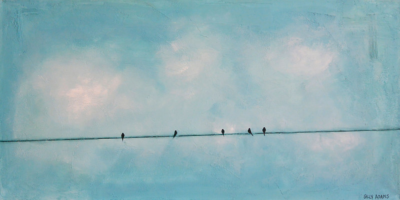Acrylic painting Blue Sky Five by Sally Adams