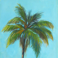 Acrylic painting Large Palm by Sally Adams
