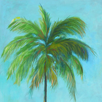 Acrylic painting Palm tree by Sally Adams