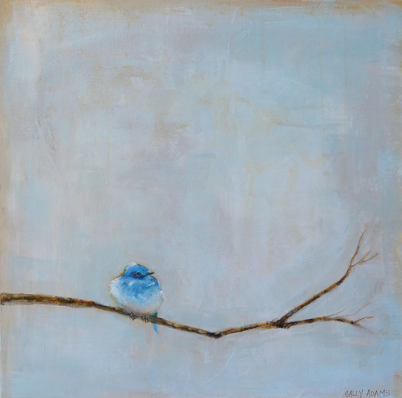 Acrylic painting Baby Blue by Sally Adams