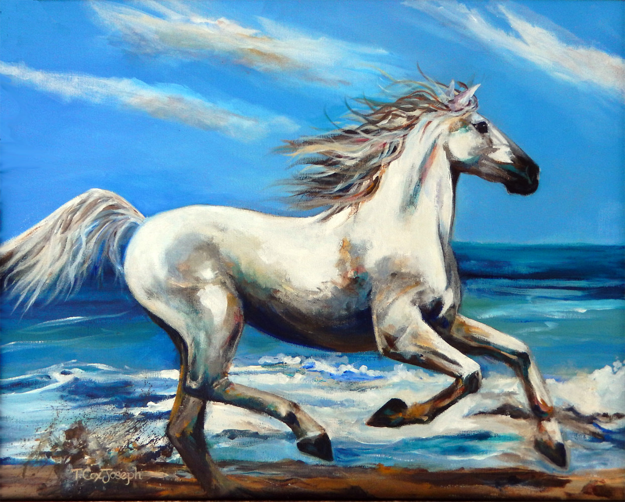 Beach Gallop New Med by Terry Joseph