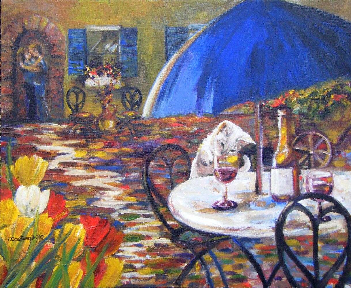 FrenchCafeKitty1 by Terry Joseph