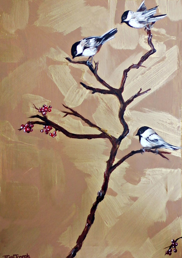 WinterChickadees2 by Terry Joseph