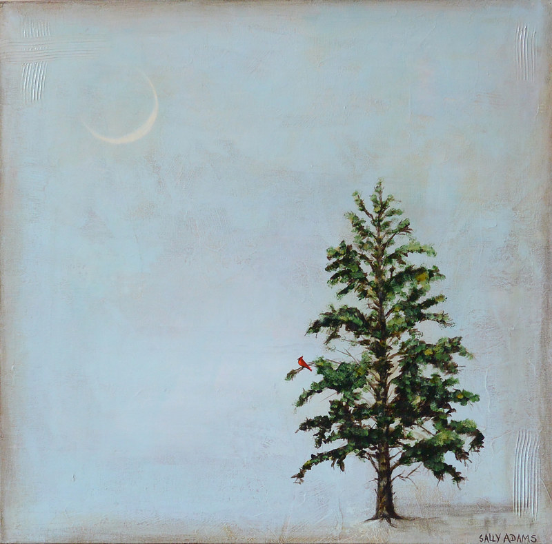 Acrylic painting Solstice by Sally Adams