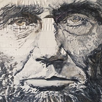 Oil painting Old Abe by Edward Miller
