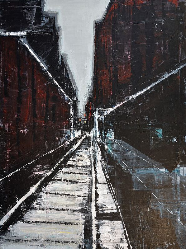 Acrylic painting Terminus #1  by David Tycho