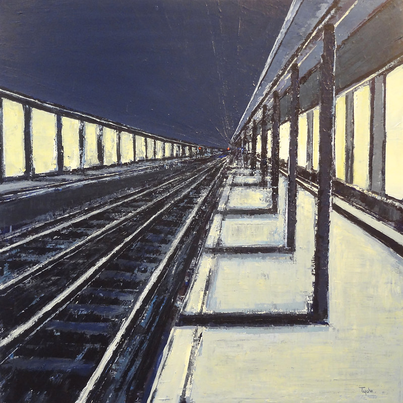 Acrylic painting Terminus No. 3  by David Tycho
