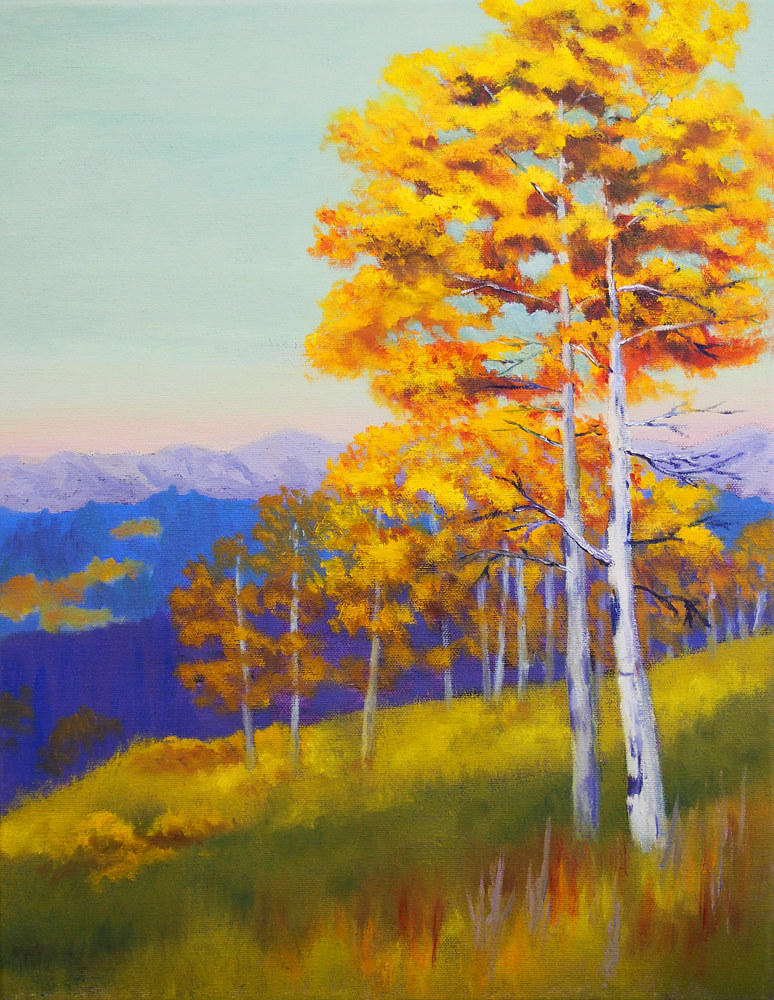 Oil painting Autumn Gold by Brent Ciccone
