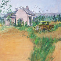 Landscape With Truck by Don Moore