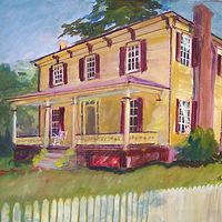 PL006 - Historic District - 16x20 - oil-001 by Don Moore