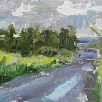 Oil painting  Retanour Road Plein Air #2 by William Sharp