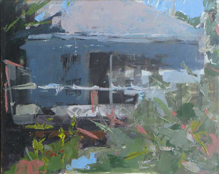 Oil painting View of My Studio Plein Air by William Sharp
