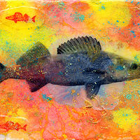 Acrylic painting Walleye Willy by Edward Bock