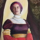 Oil painting Woman with Book by Elizabeth4361 Medeiros