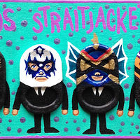 Acrylic painting Los Straitjackets by Yumi Knight