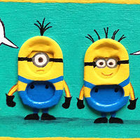 Acrylic painting Despicable Me Too by Yumi Knight