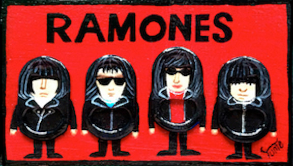 Acrylic painting Ramones by Yumi Knight