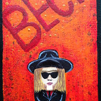 Acrylic painting Beck by Yumi Knight