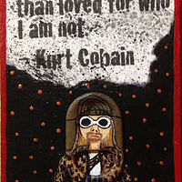 Acrylic painting Kurt Cobain by Yumi Knight