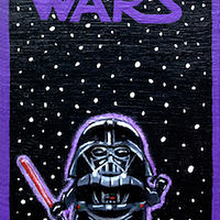 Acrylic painting Darth Vader by Yumi Knight