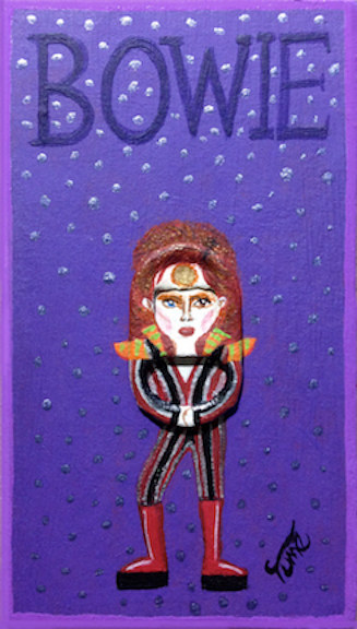 Acrylic painting Bowie by Yumi Knight