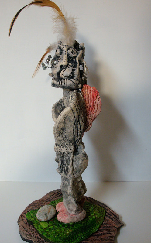 Mixed-media artwork Shaman by John Clinock