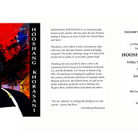 Solo Exhibition postcard, Taylor's Contemporanea Fine Art Gallery - Hot Springs, AR by Hooshang Khorasani