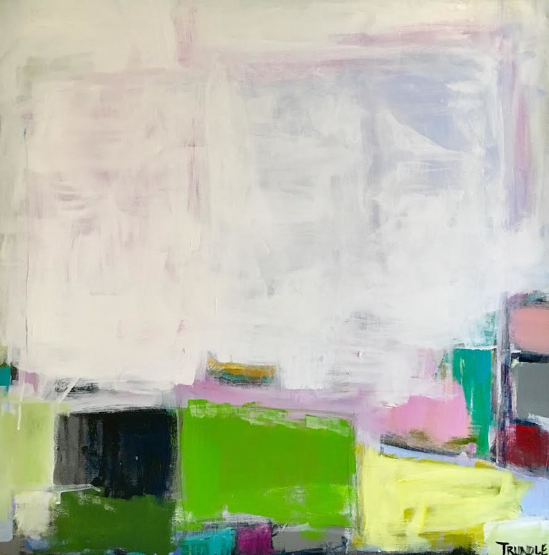 Acrylic painting Springboard by Sarah Trundle