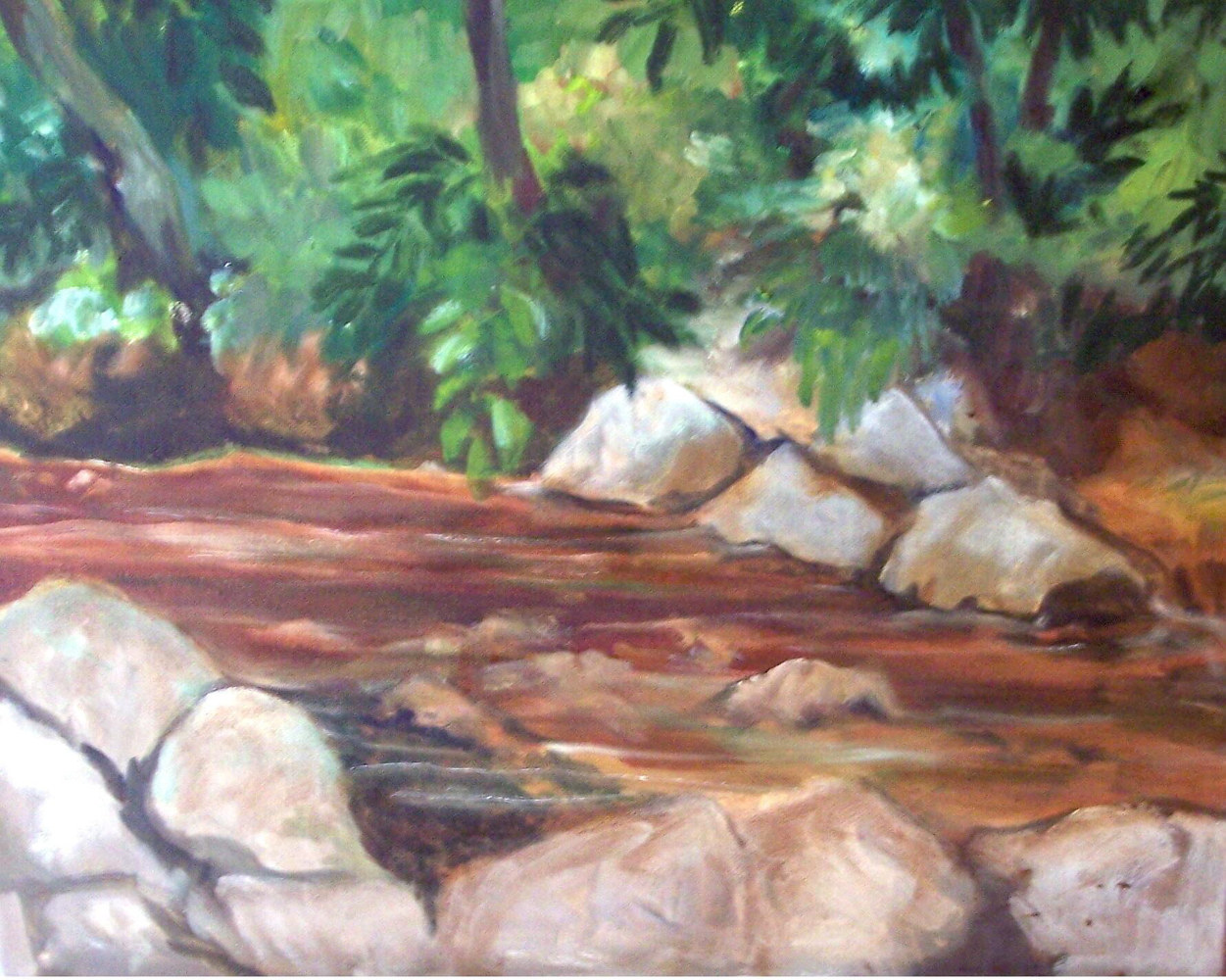 Creek  in the Wood - 16 x 20 by Don Moore