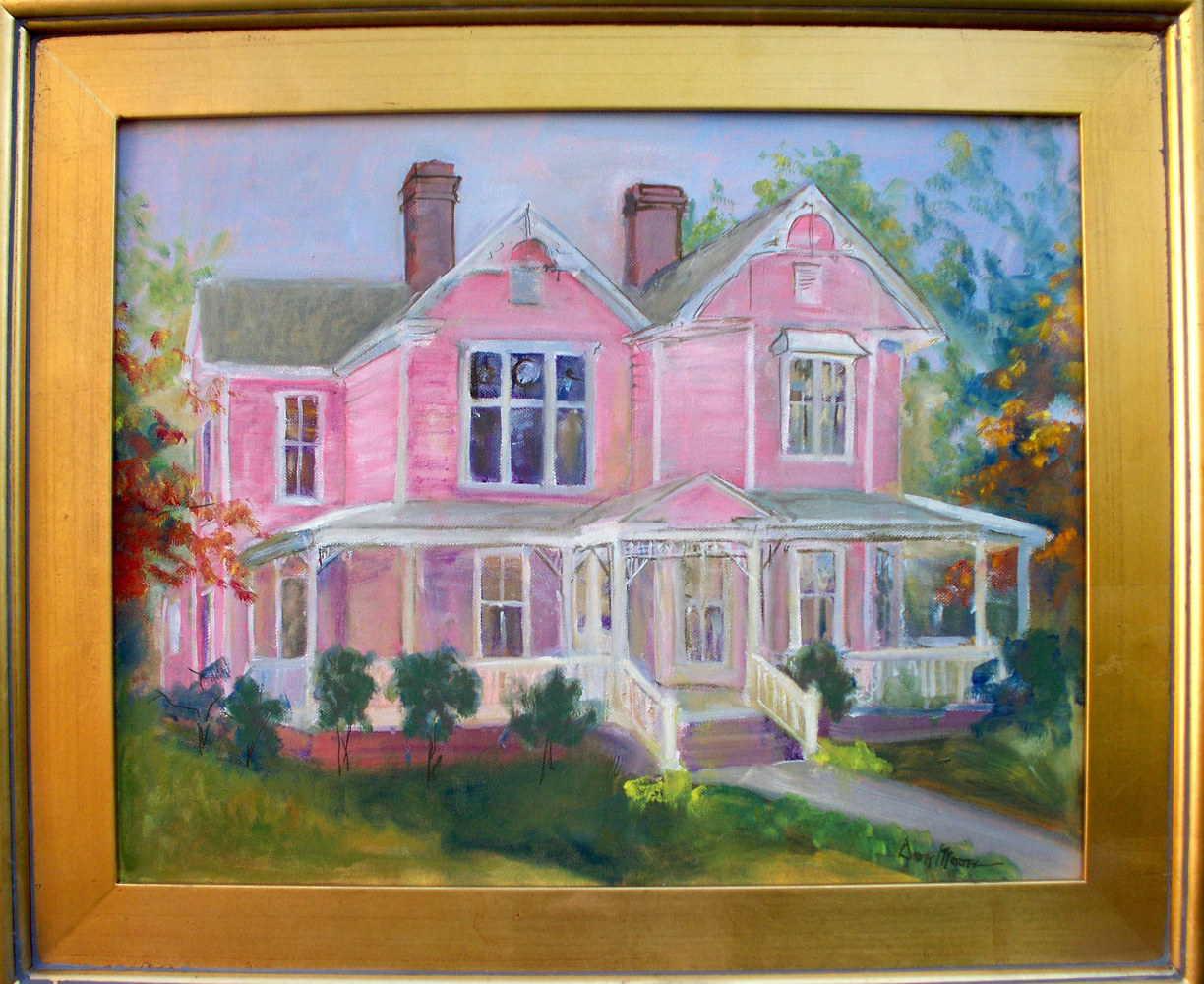 Pink House - 16 x 20   by Don Moore