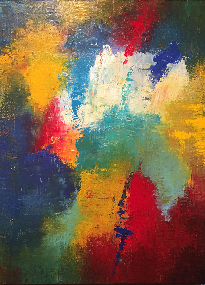 "Acrylic painting ""Praise"" - Psalm 150:6 by Richard Rice"