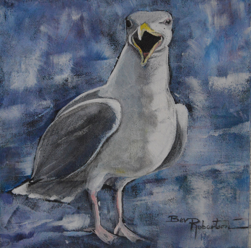Oil painting Squawking I by Bev Robertson