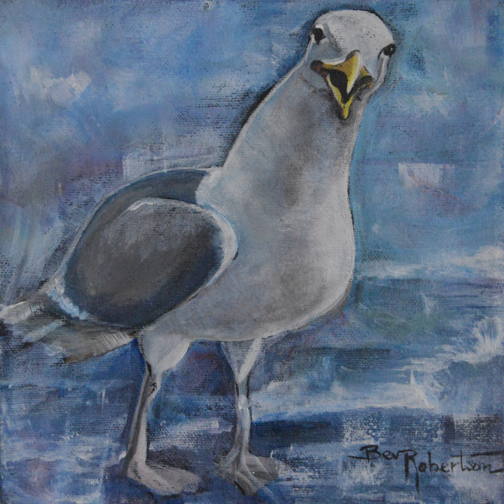 Oil painting Squawking II by Bev Robertson