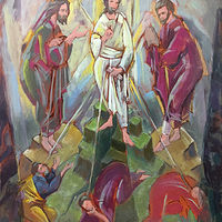 Acrylic painting The Transfiguration by Bernard Dick