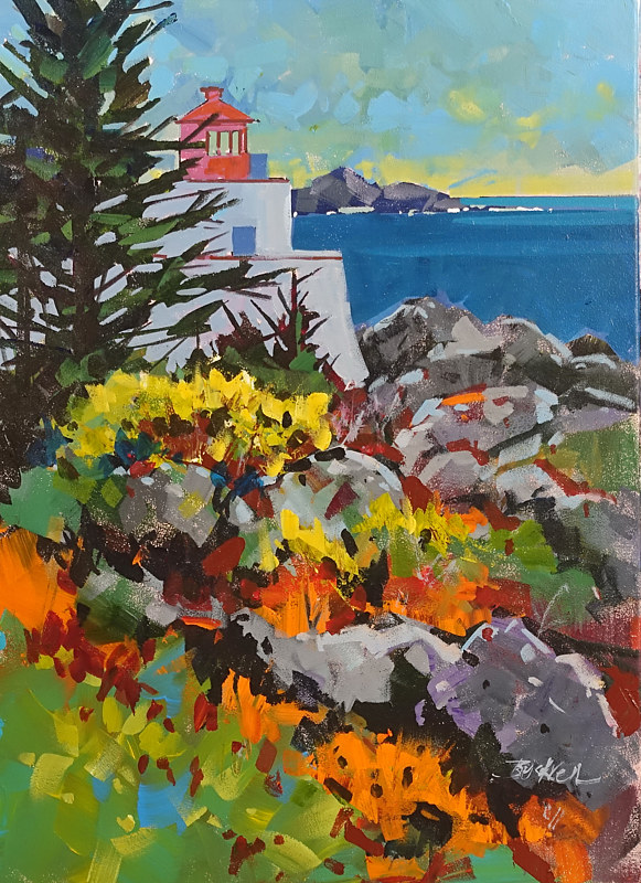 End of the Road - Ucluelet   Acrylic 18x24 2017 by Brian  Buckrell